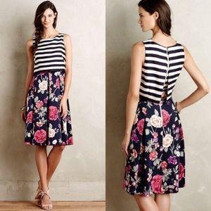 Moulinette Soeurs Striped Floral Dress